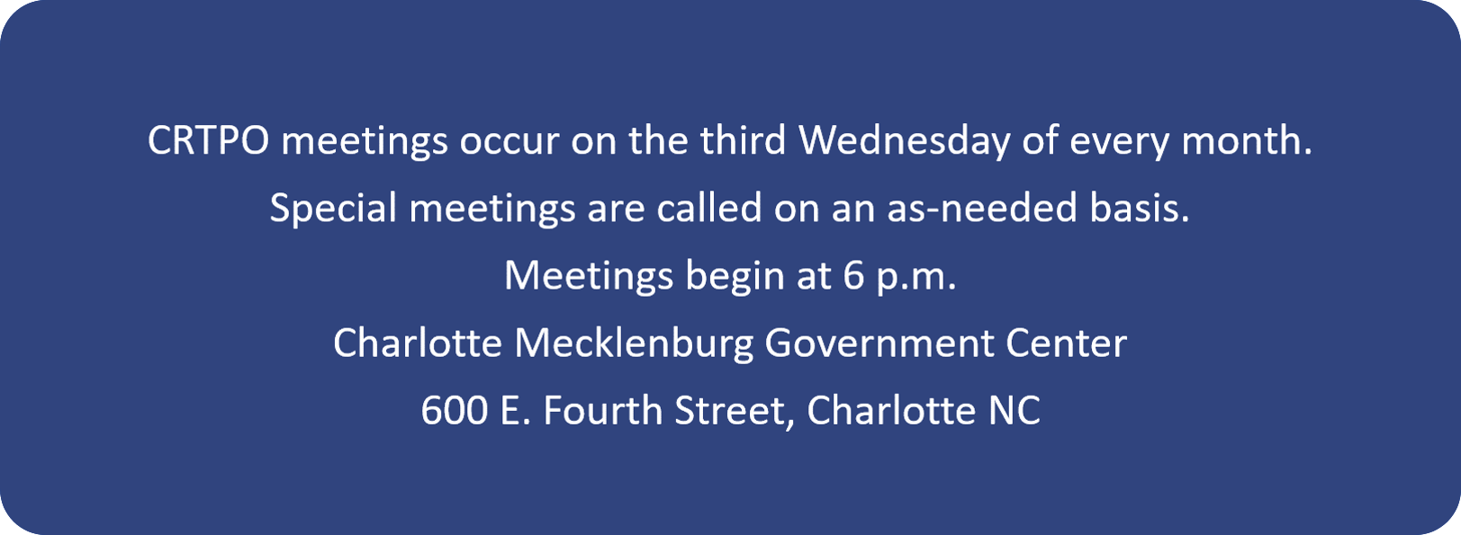 Public Information Meeting Information